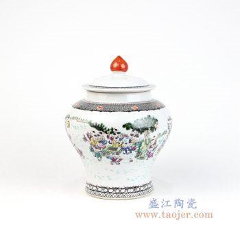 RZOR02 景德镇陶瓷 景德镇陶瓷粉彩百子图罐