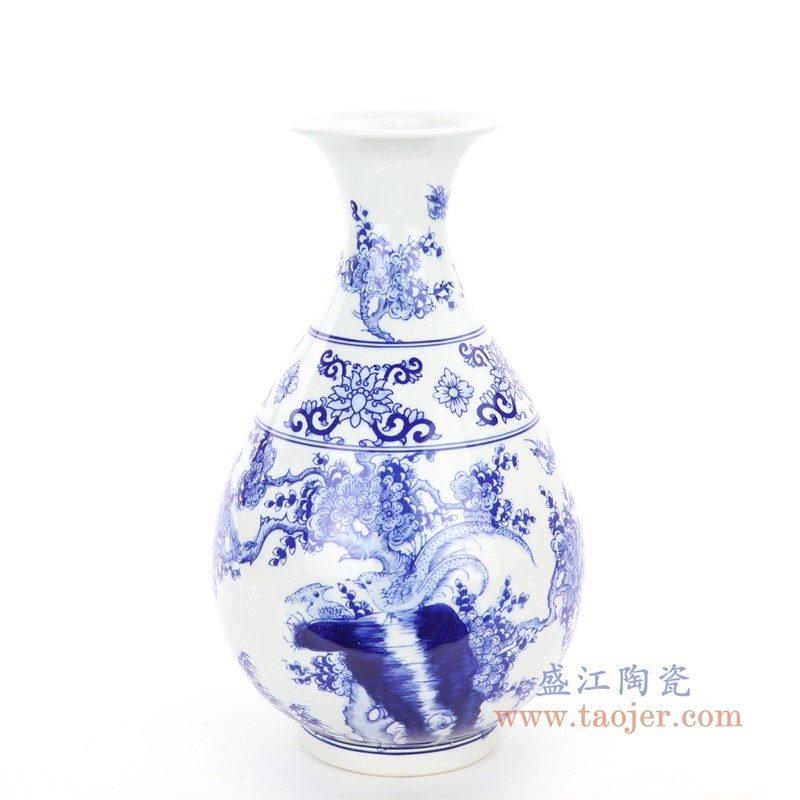 RYCI60 盛江陶瓷 仿古做旧手绘青花瓷花瓶