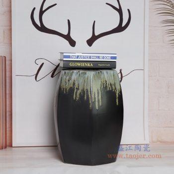 RYIR109-K 景德镇陶瓷 六边方棱形渐变色坐墩