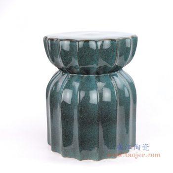 RYIR111-B 景德镇陶瓷 窑变中高温色釉莲花陶瓷凳花园凳