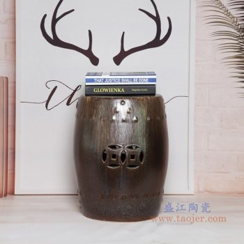 RYIR123-B 景德镇陶瓷 陶瓷装饰鼓凳凉墩坐墩换鞋梳妆圆凳子