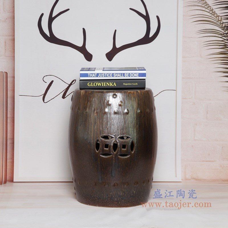 RYIR123-B 盛江陶瓷 陶瓷装饰鼓凳凉墩坐墩