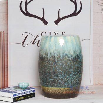 RYIR123-C 景德镇陶瓷 陶瓷装饰鼓凳凉墩坐墩换鞋梳妆圆凳子