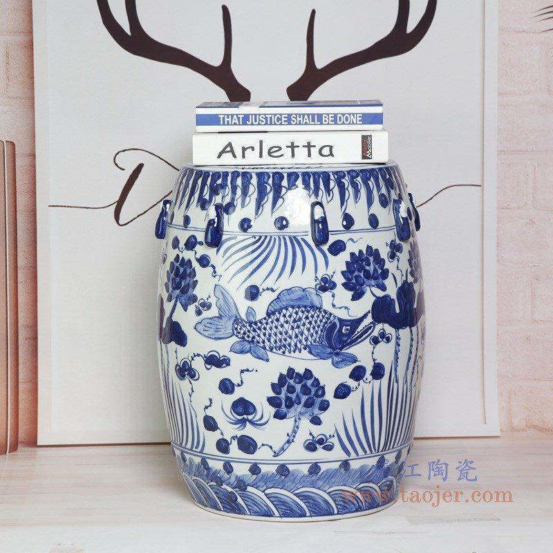 RYNQ251-A 盛江陶瓷 梳妆凳坐墩时尚家居庭院客厅