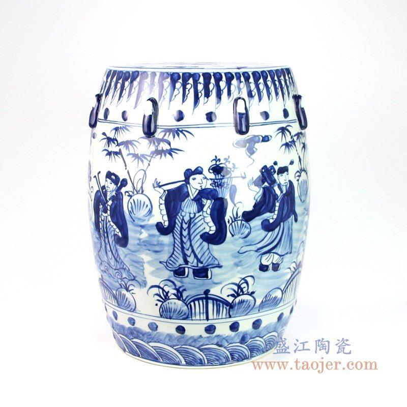 RYNQ251-C 盛江陶瓷 青花瓷器梳妆凳