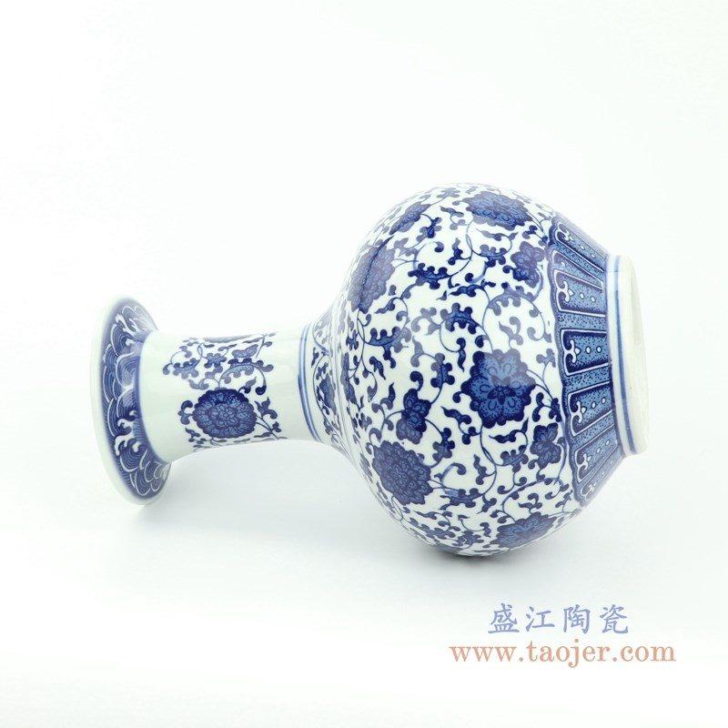 RYUJ25 盛江陶瓷 青花瓷缠枝莲花瓶