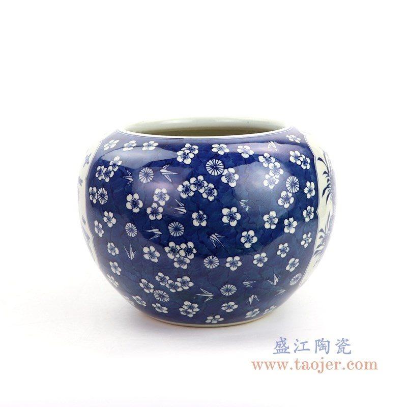 RYWD26 盛江陶瓷 手工青花陶瓷罐