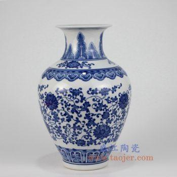 RZKD03 景德镇陶瓷 青花瓷缠枝莲纹罗汉瓶