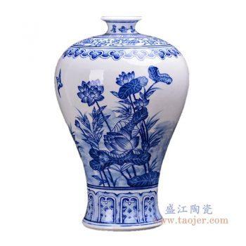 RZKD23 景德镇陶瓷 手绘青花梅瓶