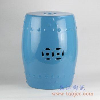 RZKL03-E 景德镇陶瓷 陶瓷高温单色釉鼓凳凉墩凳子家居摆饰圆凳