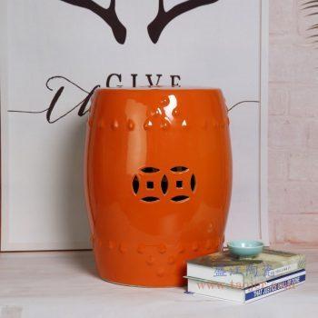 RZKL03-G 景德镇陶瓷 陶瓷高温单色釉鼓凳凉墩凳子家居摆饰圆凳换鞋凳子