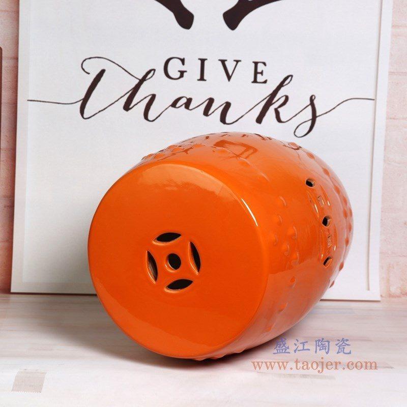 RZKL03-G 盛江陶瓷 陶瓷高温单色釉鼓凳凉墩凳子家居摆饰圆凳换鞋凳子