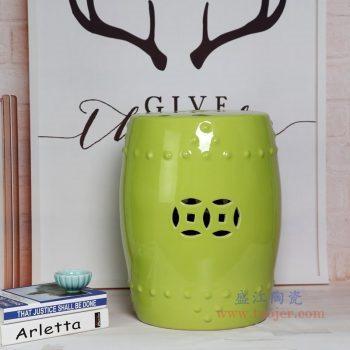 RZKL03-J 景德镇陶瓷 陶瓷高温单色釉鼓凳凉墩凳子家居摆饰圆凳