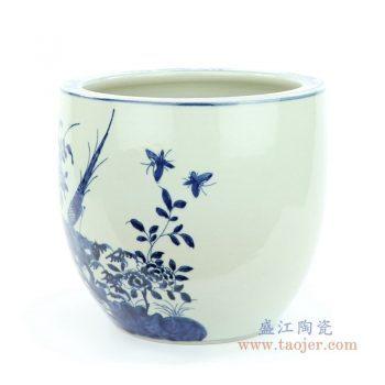 RZMW06-A 景德镇陶瓷 手绘青花花鸟罐