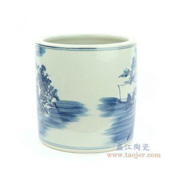 RZMW07-B 景德镇陶瓷 青花人物纹书画缸