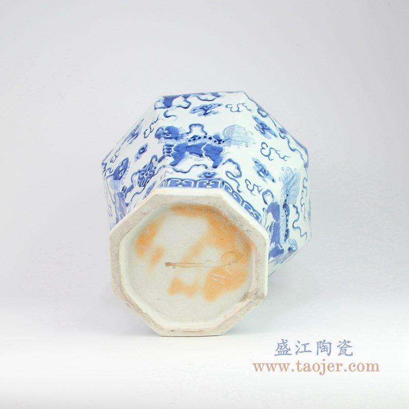 RZOY06 盛江陶瓷 手绘青花人物罐