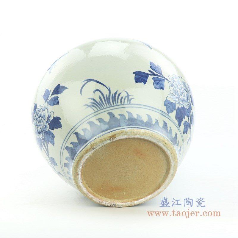 RZOY22 盛江陶瓷 花开富贵陶瓷缸