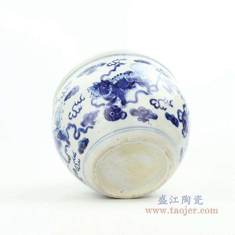 RZOY28 盛江陶瓷 青花云龙海水纹缸
