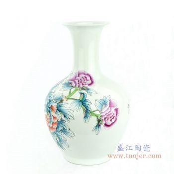 RZPC01 景德镇陶瓷 牡丹花卉贴花花瓶