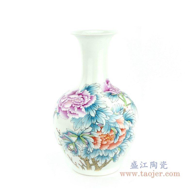 RZPC01 盛江陶瓷 牡丹花卉贴花花瓶