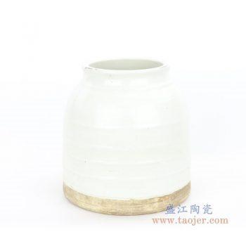 RZPI01 盛江陶瓷 仿古做旧竹节纹罐子
