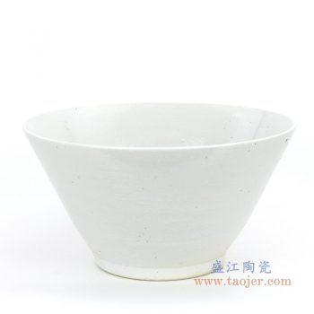 RZPI03 景德镇陶瓷 仿古做旧白色斗笠碗