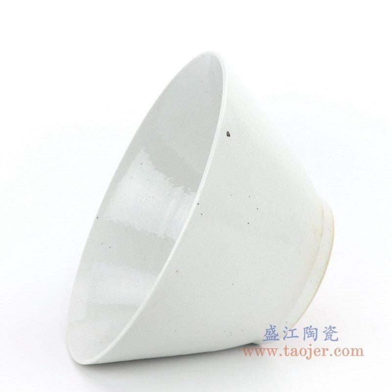 RZPI03 盛江陶瓷 仿古做旧白色斗笠碗
