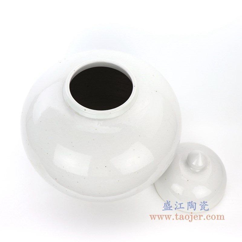 RZPI05-B 景德镇陶瓷 仿古做旧高温单色储物罐大