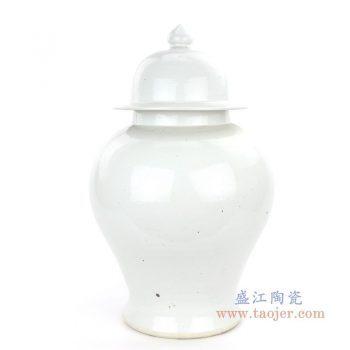 RZPI07 景德镇陶瓷 仿古做旧高温单色釉白色将军罐