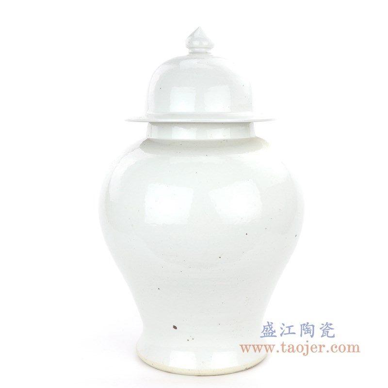 RZPI07 盛江陶瓷 仿古做旧高温单色釉白色将军罐