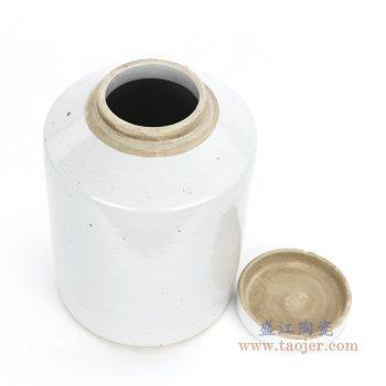 RZPI09 景德镇陶瓷 仿古做旧高温单色釉茶叶罐