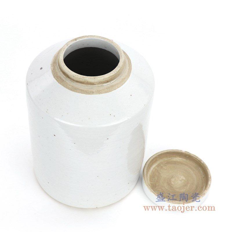 RZPI09 盛江陶瓷 仿古做旧高温单色釉茶叶罐