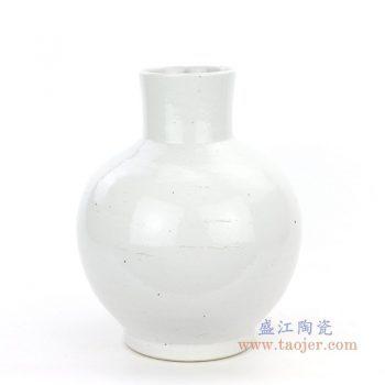 RZPI10景德镇陶瓷 仿古做旧白胎花瓶天球瓶