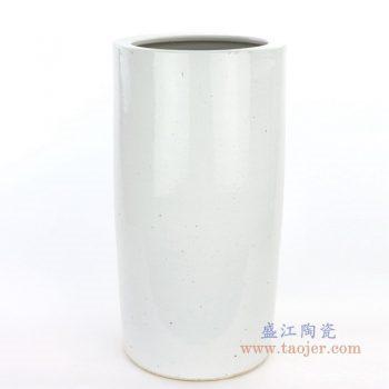 RZPI11 盛江陶瓷 仿古做旧高直筒圆柱方形花瓶