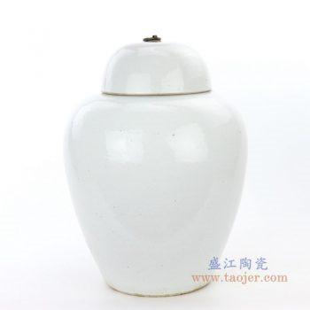 RZPI12 景德镇陶瓷 仿古做旧高温颜色釉带盖储物罐大
