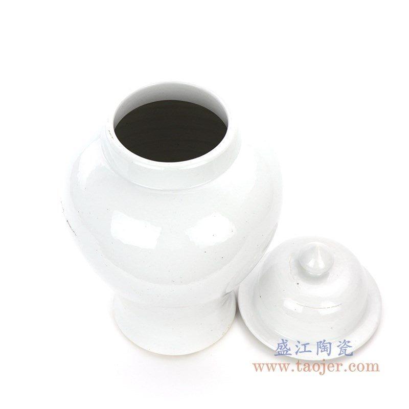 RZPI17 盛江陶瓷 陶瓷罐子白色将军罐