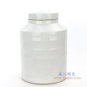RZPI19 景德镇陶瓷 仿古做旧高温单色釉茶叶罐