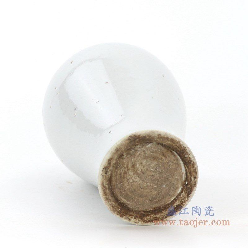 RZPI29 盛江陶瓷 中式白瓷仿古禅意花瓶摆件插花花瓶