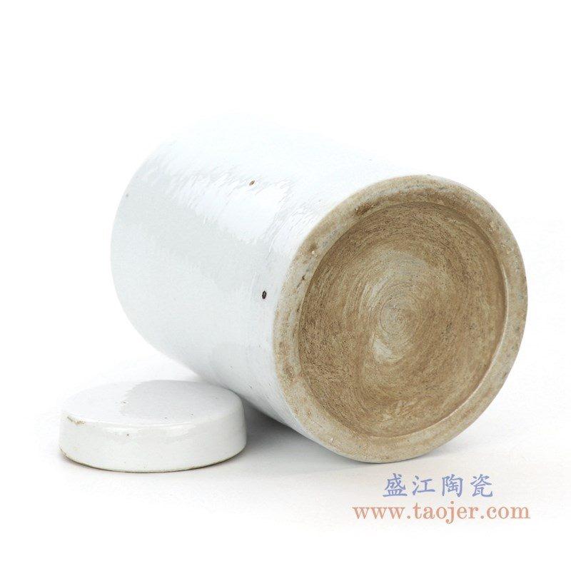 RZPI31 盛江陶瓷 仿古做旧高温单色釉茶叶罐
