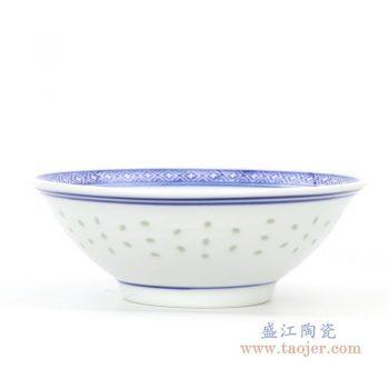 RZKG09 景德镇陶瓷 青花玲珑碗