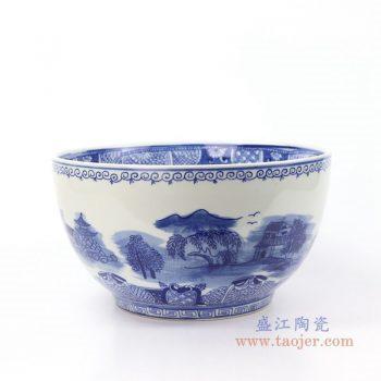 RYLU158-A 景德镇陶瓷 手绘青花山水茶具单杯