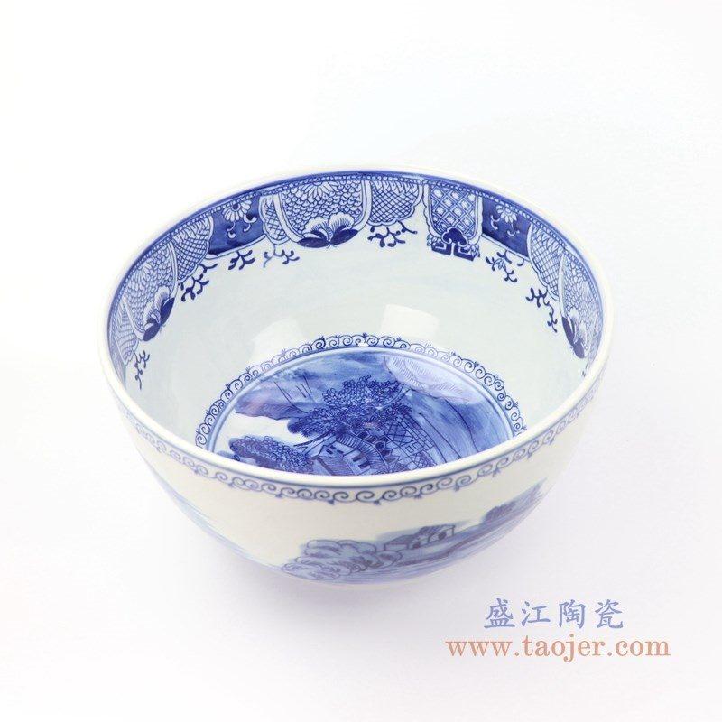 RYLU158-A 盛江陶瓷 景德镇手绘青花山水茶具单杯
