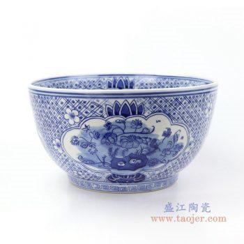 RYLU158-B 景德镇陶瓷 手绘青花花卉茶具单杯