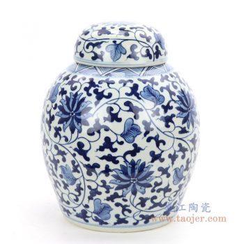 RZOY30 景德镇陶瓷 手绘青花瓷茶叶罐
