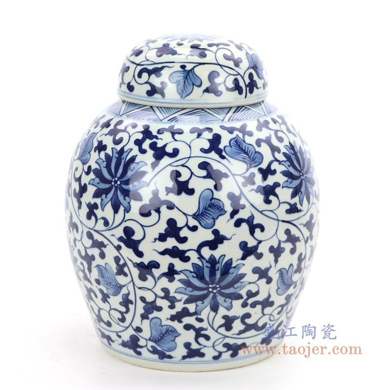 RZOY30 盛江陶瓷 手绘青花瓷茶叶罐