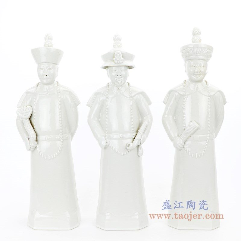 RYXZ17-B 盛江陶瓷 清三代康熙、雍正、乾隆、陶瓷三件套摆件