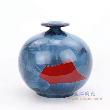 RZGW01-D 景德镇陶瓷 天地方圆结晶陶瓷平安花瓶