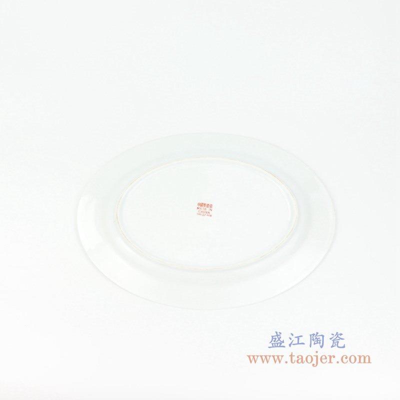 RZPV01-B 盛江陶瓷 12寸中式颜色釉手绘万寿无疆陶瓷礼品赏盘