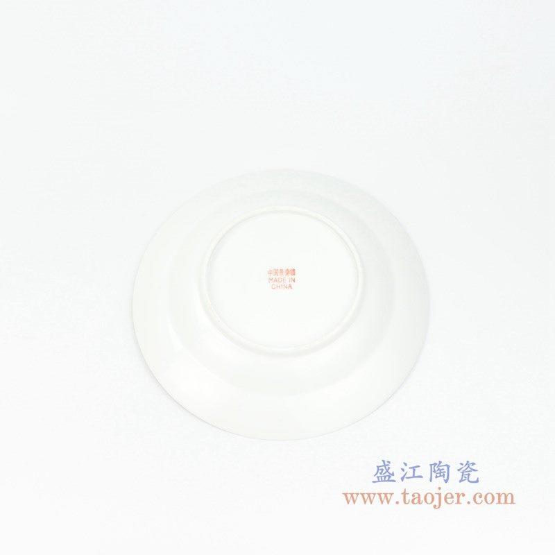 RZPV04-C 盛江陶瓷 6寸景德镇传统粉彩怀古万寿无疆陶瓷赏盘摆件
