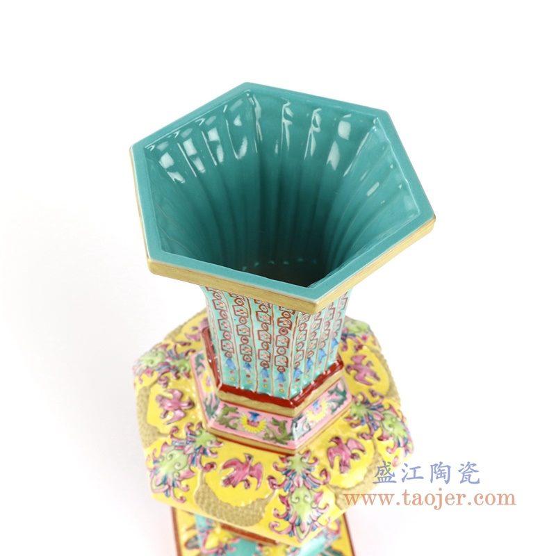 RYLW11 盛江陶瓷 大清雍正珐琅彩描金博古花觚